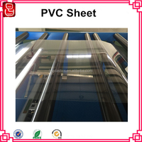 RoHS Certified Clear PVC 250 Micron Thin Blue Tint Plastic PVC Sheet
