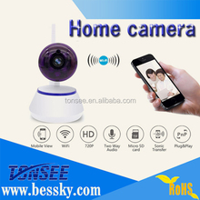 H.264 compression mode 1/4-inch 1.0 Megapixel CMOS, include 3.6mm fixed lens home wifi ip baby monitor Support Mobilephone View