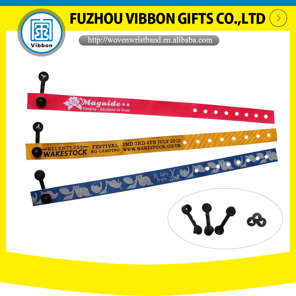 promotional cheap customized woven/fabric wristband/OEM factory gifts