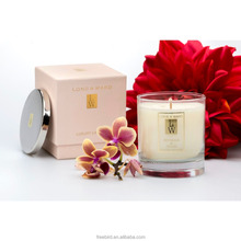 OEM soy wax 100% natural smokeless scented pillar candle