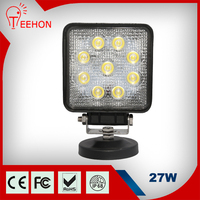 "2015 new auto lighting product 12v 24v high quality square 5"" 27W led work light for tractors"