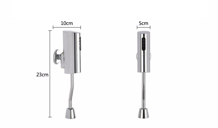 Wall mounted high quality automatic sensor urinal hands free flush valve sanitaryware toilet flusher for male