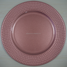 Rose Gold Charger Plates For Party Wedding Restaurant