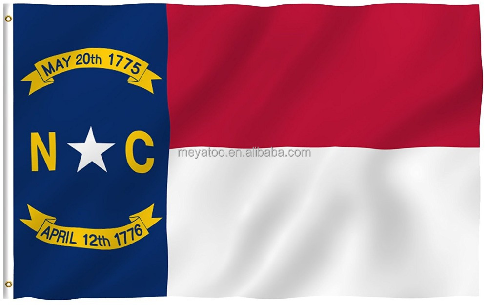 3x5 Foot North Carolina State Polyester Flag - Vivid Color and UV Fade Resistant