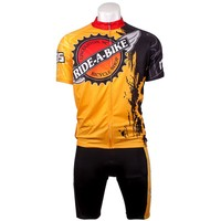 Customized high quality bicycle jersey and bib shorts