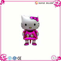 Wholesale hello kitty cartoon foil balloons for kids toy