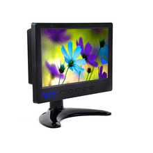 Portable 7 inch car lcd monitor/7 inch touch screen monitor with usb,hdmi,vga input