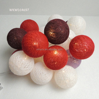 Colorful battery operated cotton ball the christmas lights