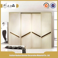 Luxury bedroom interior wooden wardrobe door