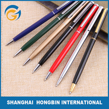 Custom Logo Engraved Thin Twist Metal Pen