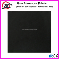 Cross Lapping Black Viscose Polyester or Bamboo Charcoal Spunlace Nonwoven Fabric