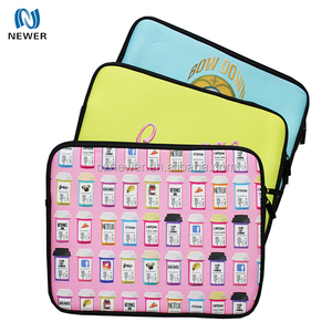 Eco high quality custom logo soft handled neoprene laptop bag with pocket