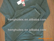100% polyester winter thermal underwear velour fabric for clothing