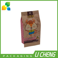 Hight quality products snack food packaging kraft paper bags food grade