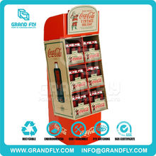 Cola Store Advertising 6 Units Retail POP Up Cardboard Display Stand
