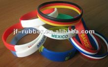 High quality 2012 London Olympic Silicone Wristbands with customized printed country flag design