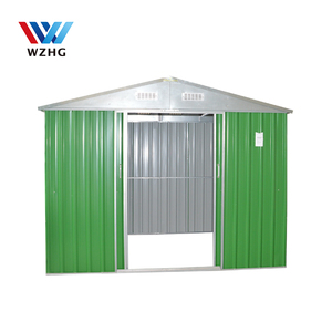 8ft by 6ft outdoor steel garden storage shed / color steel garden shed