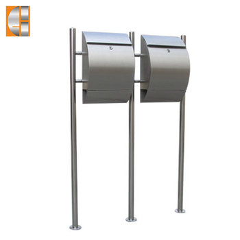 GH-1211S2U-2 stainless steel free standing mailbox