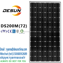 200w monocrystalline solar panel electric with TUV CE IEC MCS