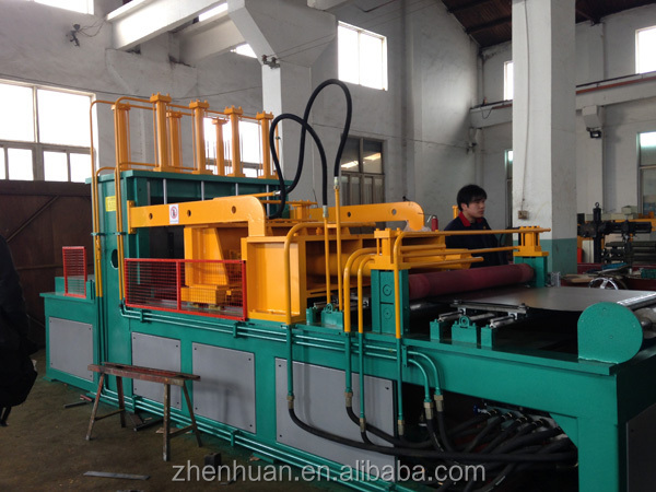 Transformer corrugated tank machine for fin