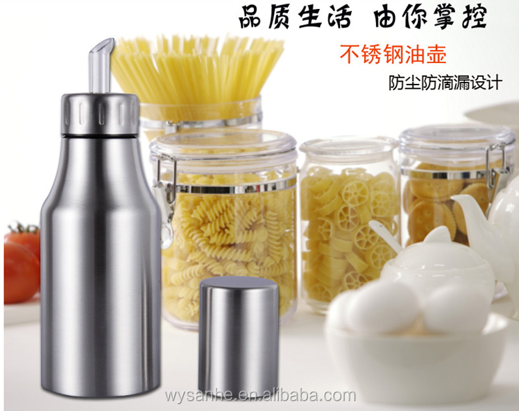 The 2015 latest fashion most popular kitchenware stainless steel olive oil bottle