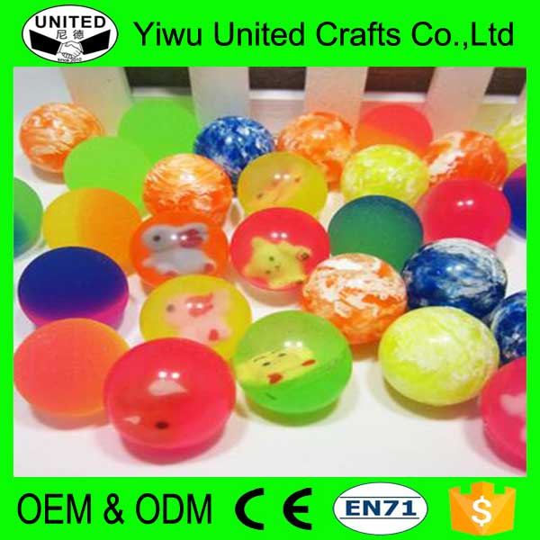 Promotional gift multi faceted rubber hi bouncing balls