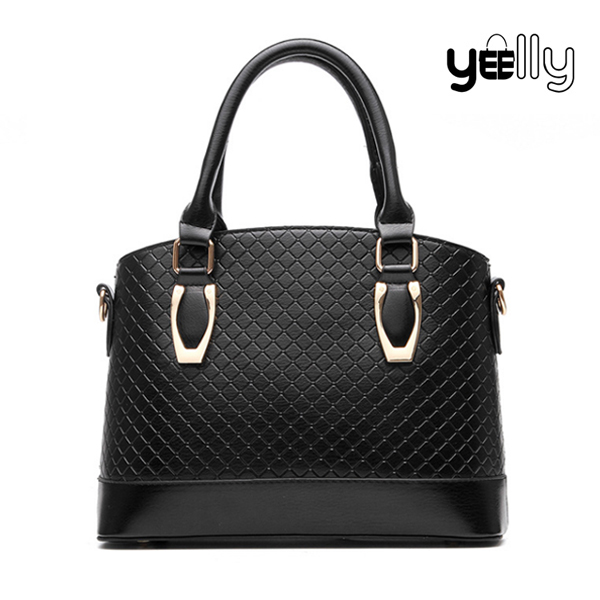 YEELLY 2016 Fashion Lady Handbag PU Leather Cross Body Tote Bag