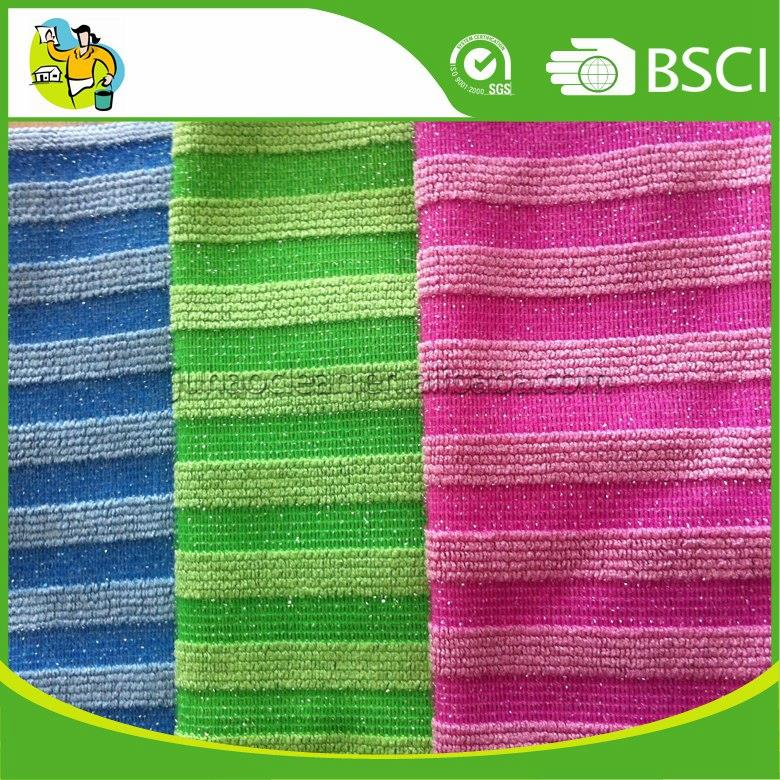 Quick Drying 80% Polyester 20% Polyamide Microfiber Household Cleaning Cloth Microfiber Rag with Fast Shipping