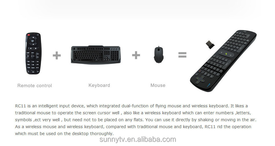 Air mouse RC11 Measy 2.4g air mouse for android tv box with Gyroscope