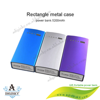 USB power banks4000mah 4400mAh 5200mAh External Mobile Battery Charger Power Bank with Flashlight for Cell Phones