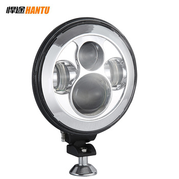 40w 7inch round shape led work light with angel eye