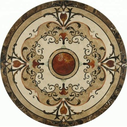 Decorstone24 Factory Directly Waterjet Round Marble Floor Medallions Patterns