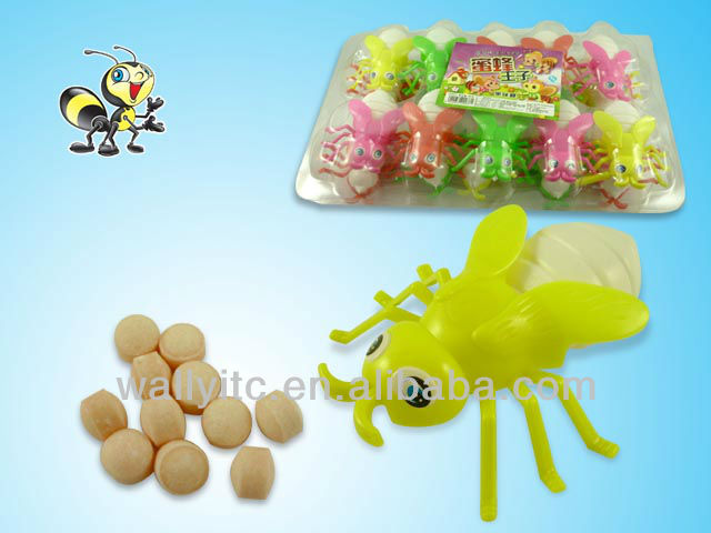 Lovely Sweet Candy Filled In Bee Dispenser/Plastic Toy For Kids 2013 China Shantou