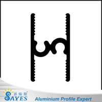 Hot! Anodizing wardrobe aluminum extrusion sliding door tracks 1mm thickness aluminium price per kg supplier have cad drawing