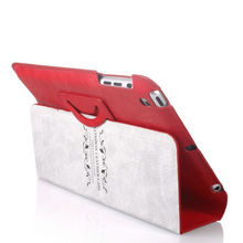 For ipad 3 case with shoulder strap, for ipad 3 leather case - Black/Red/Brown/Blue color, factory and Paypal