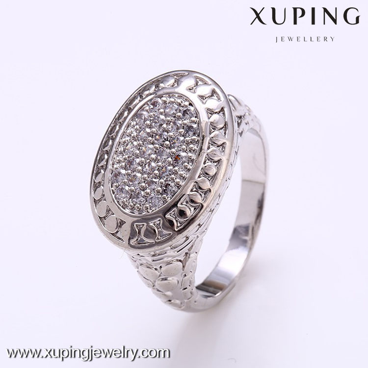 12332 Xuping fashion white color finger ring jewelry, chunky jewellery making finger rings for women