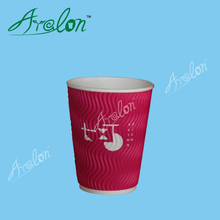 12oz 400ml ripple wall hot coffee paper cup