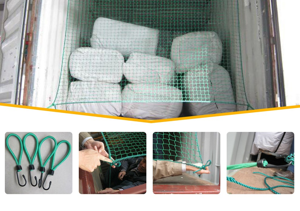 Fully Stocked Container cargo net/ container net / container safety net