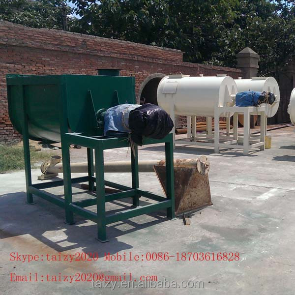 Automatic feeding putty mixer