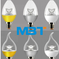 Hot promotion c37 220-240v 3.5w colourful lamp body candle led bulb e14 lamp base with high luminous flux mbt