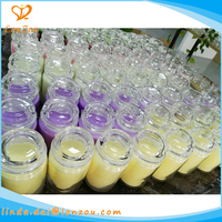 Wholesale factory price scented glass jar private label soy wax candle