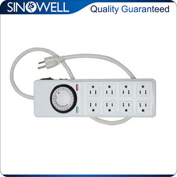 Timer socket with 8 outlet, hydroponic timer