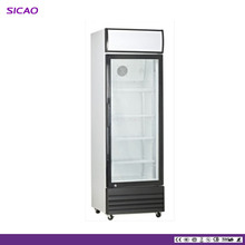 Beverage Dispenser Refrigerator With upright Glass Door supermarket glass door refrigerator