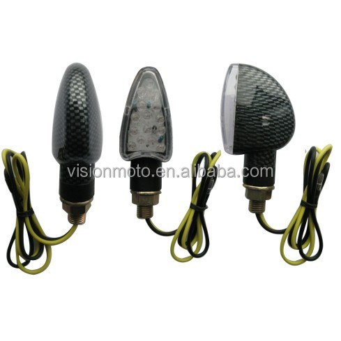 Hot sale high quality black carbon chrome motorcycle LED mini indicator motorcycle accessories VM11-001A