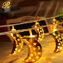 Popular fairy moon led string lights ramadan decorations