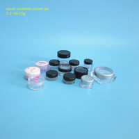 High quality 5g7g10g15g small sample containers mini clear plastic small ps jar 25g small plastic cosmetic packaging jar