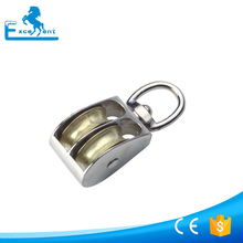 Nickel plated Swivel Eye Double Sheave Pulley