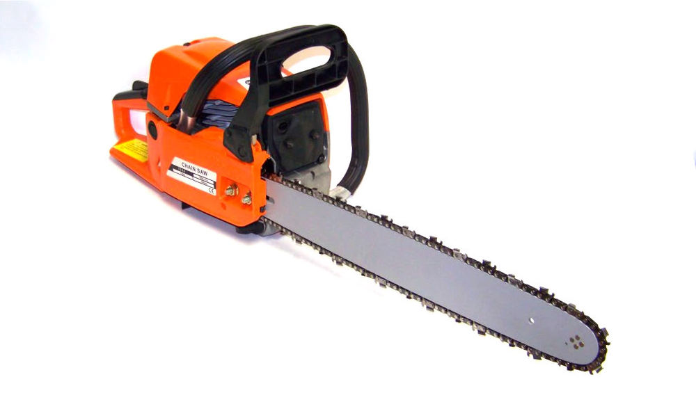 "52CC 22"" G_A_S_O_L_I_N_E CHAINSAW CUTTING WOOD GAS CHAIN SAW ALUMINUM CRANKCASE"