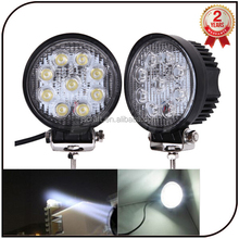 warranty 2 year 12V 24V spot flood beam driving light aluminum high power IP67 12v 27w led work lamp light for off road
