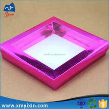 2015 New Design Cheap Custom cardboard gift boxes clear lid